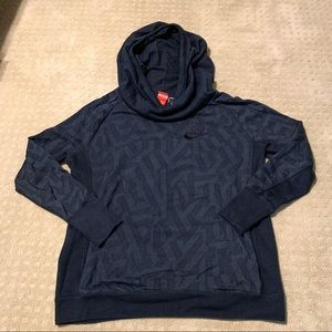 Nike Printed Cow-Neck Hooded Sweatshirt